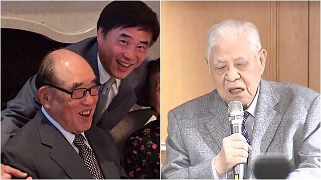高齡101歲的前行政院長郝柏村(左)與98歲的前總統李登輝(右),目前都因病入院治療中。(圖/翻攝自郝龍斌臉書、TVBS資料畫面)