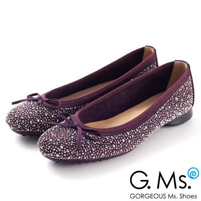 MIT全手工‧修飾美型芭蕾舞鞋!細緻手工燙鑽‧精緻全手工!裡外全真皮‧微調楦頭適合寬楦腳型!鞋版偏大,請拿平常小一號!
