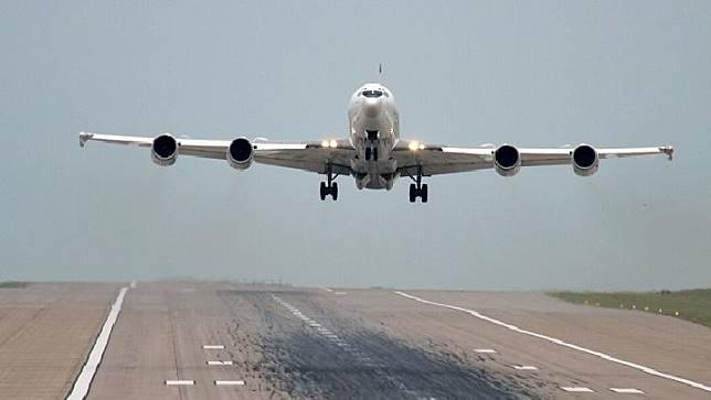 Pesawat anti serangan nuklir  E-6B Mercury  milik Angkatan Laut AS. (Dok. Angkatan Laut AS)