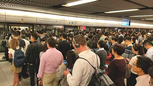 中環乘客需要改用港島綫前往金鐘站