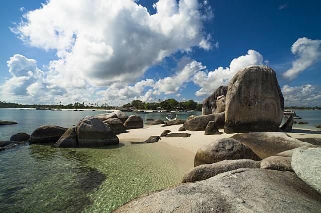 Scenic rock formation on Belitung Island
