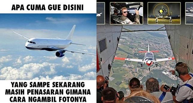 5 Foto ini 'jawaban' misteri cara memotret pesawat yang sedang terbang