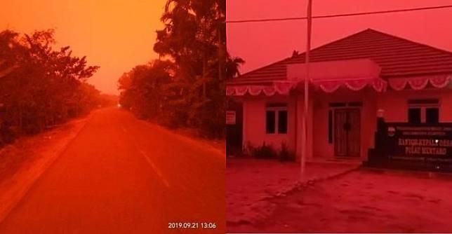 Viral Fenomena Langit Jambi Berwarna Merah, Ternyata Ini Penyebabnya!