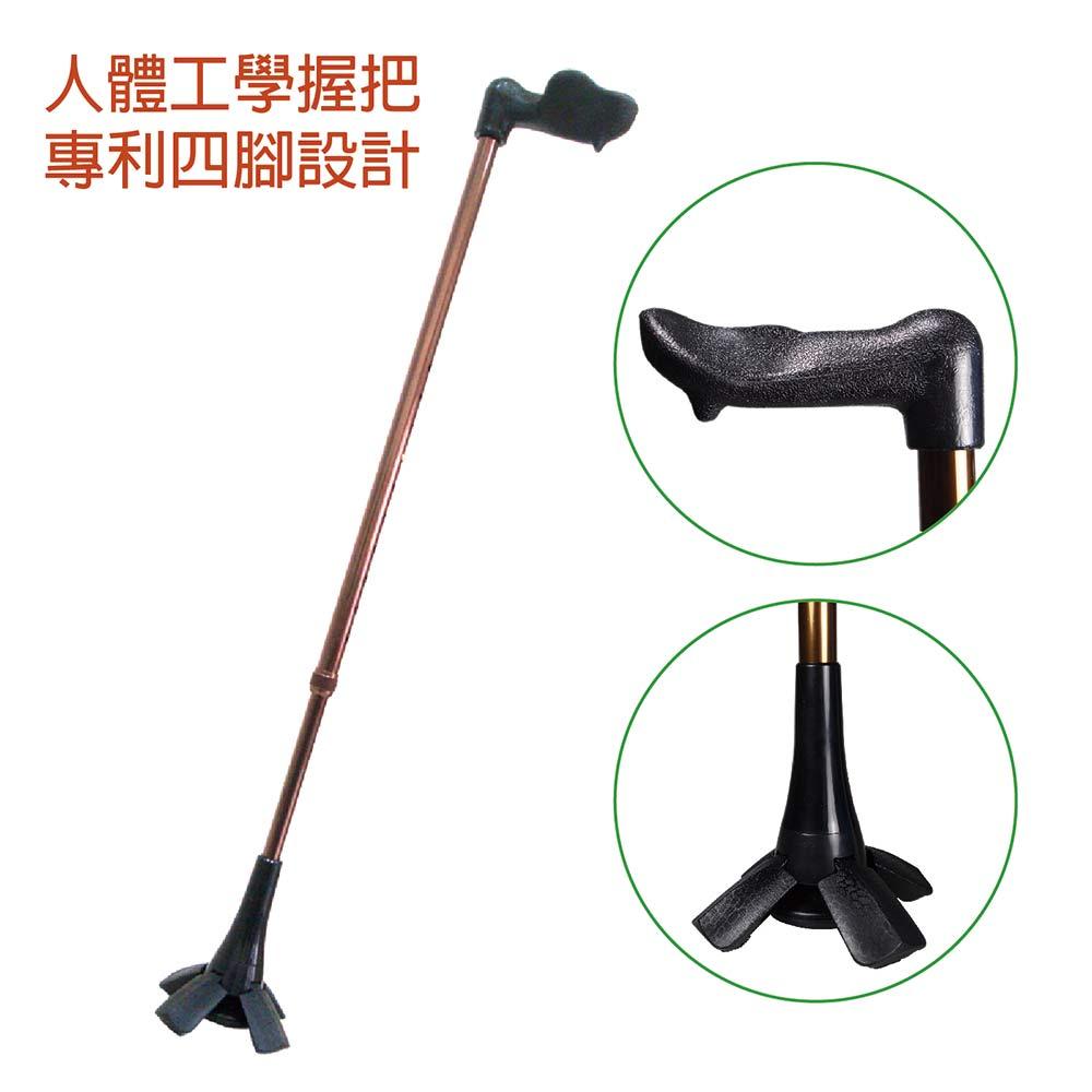 採用人體工學設計握把;握把支撐面大;行走時施力方便;高強金屬管材質