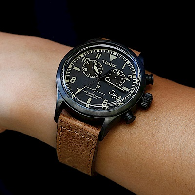 INDIGLO專利夜光 Redwing真皮錶帶計時碼表全省通路保固 原廠公司貨 型號TXTW2R13100