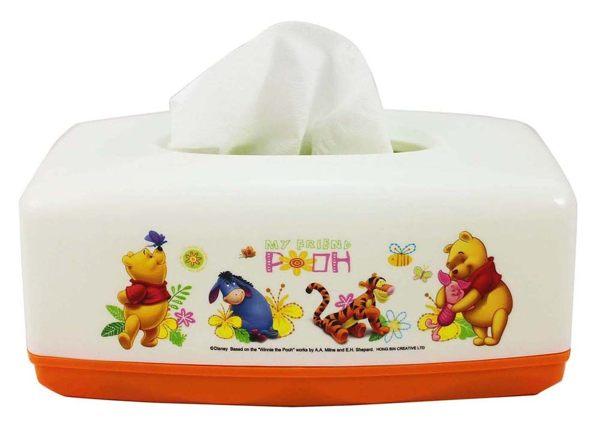 【卡漫城】 小熊維尼 面紙套 白橘 ㊣版 面紙盒 桌上型 維尼熊 Winnie Pooh 台灣製 小豬 跳跳虎