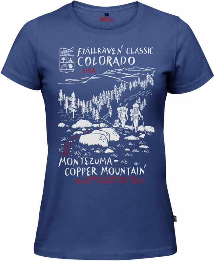 Fjallraven 瑞典北極狐 有-機棉短袖T恤/棉T/旅遊 US T-Shirt 女 89977 527 美國健行 深藍。運動,戶外與休閒人氣店家台北山水戶外用品專門店的所有上架商品、女性服飾、女