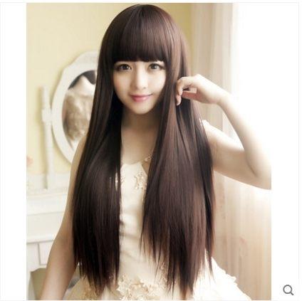小鄧子假髮女 假髮套 長直髮長假髮直發 修臉 女士假髮逼真自然