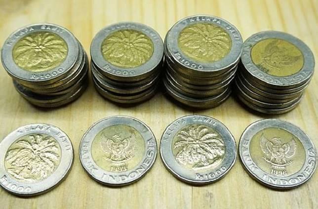 Gambar Uang Koin 100 China Wah Koin Seribu Rupiah Gambar Kelapa Sawit Ini Dijual Dengan