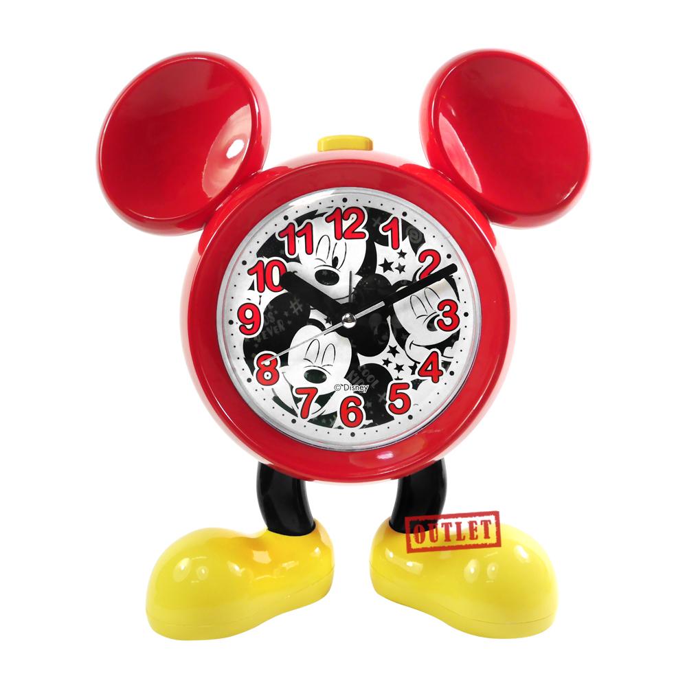 展示福利品9折↘ Disney 迪士尼 / 米奇 音樂鬧鈴 童趣可愛 靜音機芯 兒童 座鐘 鬧鐘 - 紅色 #NZ-004A