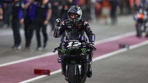 Maverick Vinales jadi yang tercepat dalam tes MotoGP Jerez 2021. (Foto: AFP/KARIM JAAFAR)