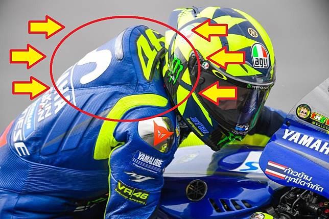 Punuk di wearpack pembalap MotoGP
