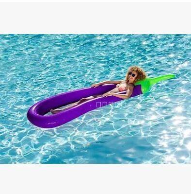 充氣菠萝浮排獨角獸水上坐騎成人鳳梨游泳圈 主圖款【茄子浮排】