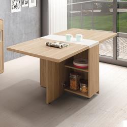 ◎前後開門內可置物 ◎特殊立體化木紋處理 ◎台灣製造品牌:H&D類型:桌子/餐桌/折合桌桌面型狀:長方形桌面主材質:木質材質說明:正面、檯面、側面為木芯板材質,PU耐磨塗裝木紋經特殊立體化處理,增添木
