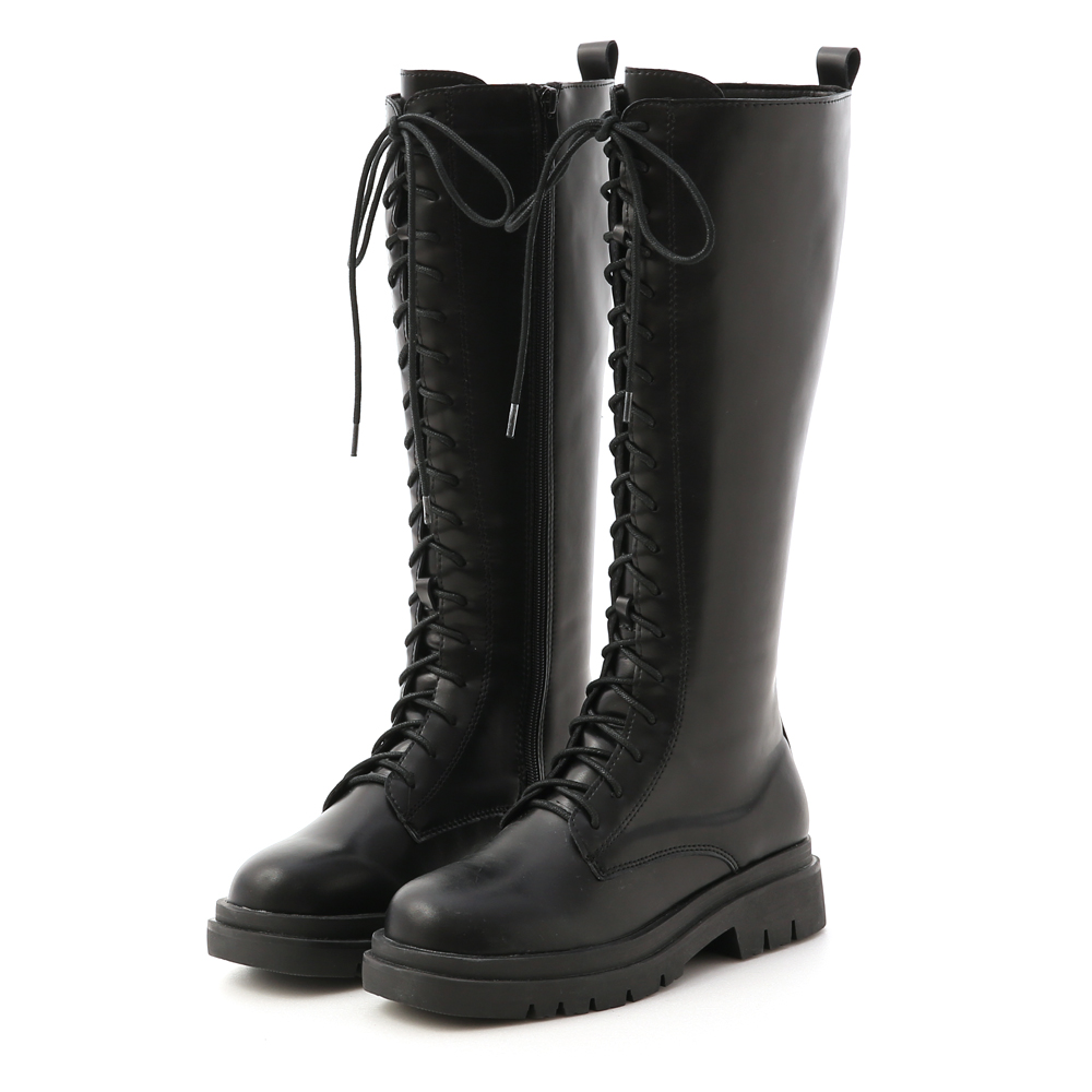 D+AF鬆糕底綁帶馬汀長靴 馬丁靴