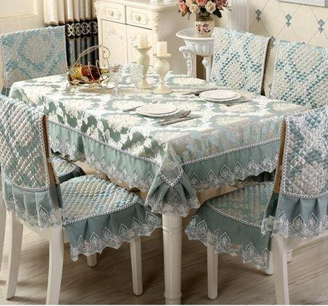 桌墊 餐桌布椅套椅墊套裝茶幾桌布布藝長方形椅子套罩歐式現代簡約家用jy