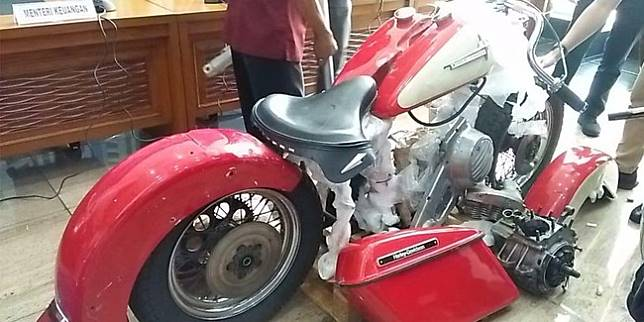 Onderdil Harley yang diangkut Garuda Indonesia (Merdeka.com)
