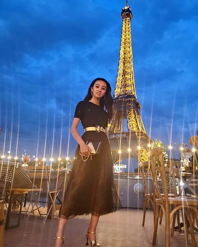 工藤靜香日前在巴黎開工。