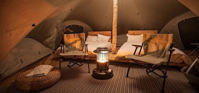 這裏有7座專為FIELD SUITE研發的豪華露營帳棚,帳棚內寬敞且設計精緻。(互聯網)