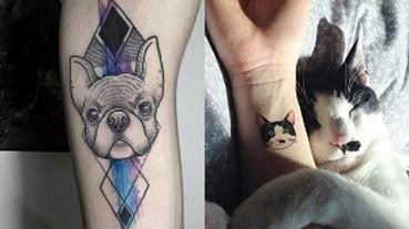 用別緻小紋身,來表達對寵物的愛意吧!