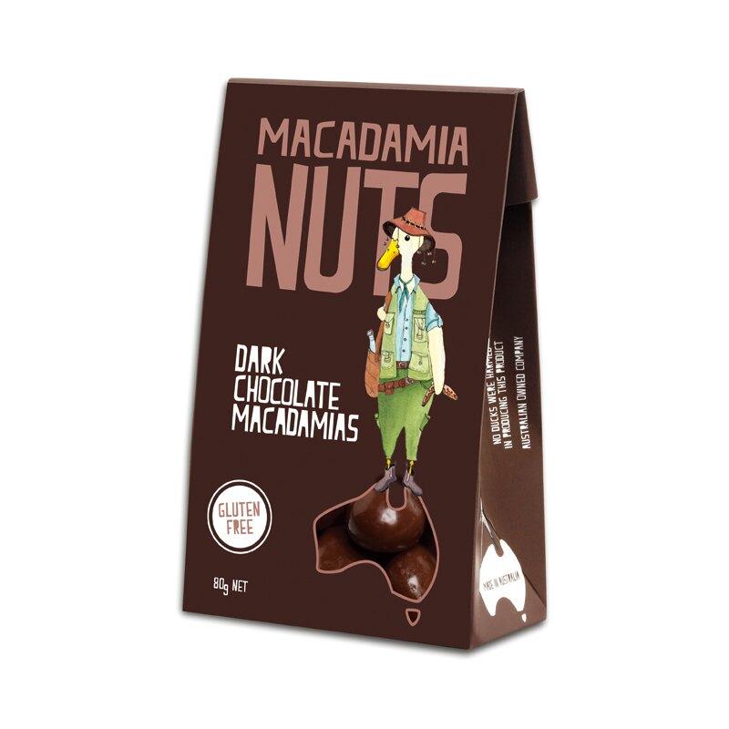 黑巧克力-鴨溪澳洲堅果 80g