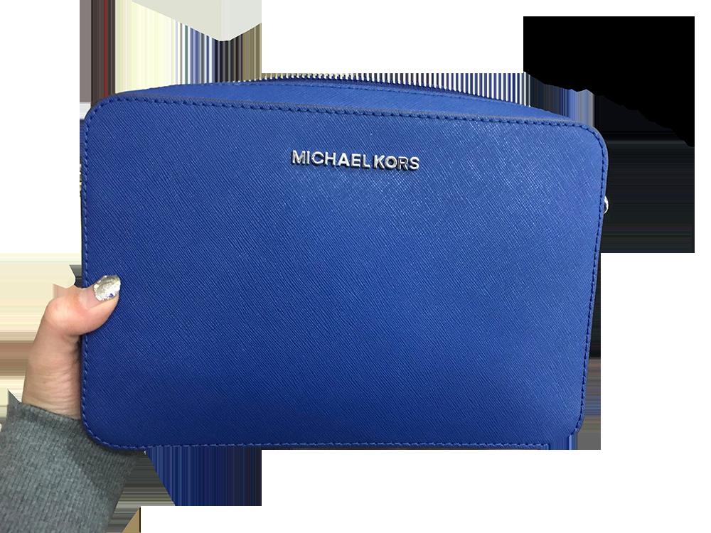 Mk防刮相機包寶藍色 手拿包 防刮皮革 精品包包 女性包包 優惠組合非 Tommy kate spade CK Coach MJ LV Chanel Hermes