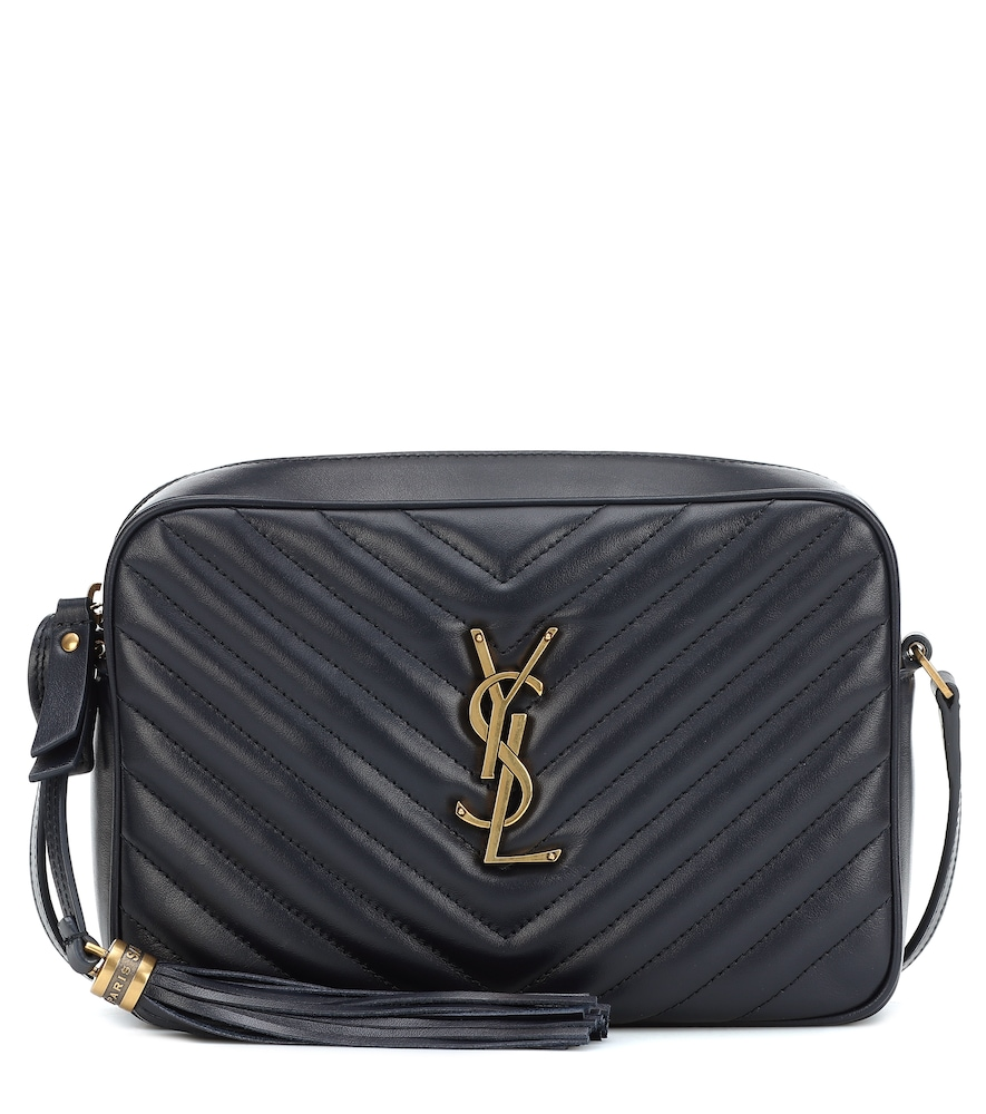 Finish every look on a note of Parisian chic with the Lou Camera crossbody bag from Saint Laurent, presented here in navy blue.