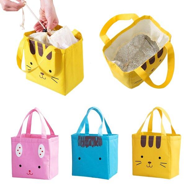 動物保溫袋 手提帆布袋保暖袋保冷袋 束口便當袋飯盒袋手提袋野餐袋