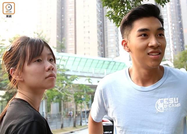 劉先生(右)坦言擔心受催淚煙影響,「想佢唔放咪最好」。