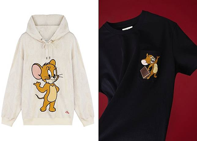 ETRO × TOM AND JERRY 白色Hoodie、ETRO × TOM AND JERRY 黑色短袖Tee (互聯網)