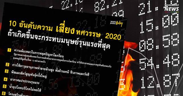 เปิดอันดับ ความเสี่ยง ถ้าเกิดขึ้นในทศวรรษ 2020 จะมีผลกระทบต่อมนุษยชาติที่สุด