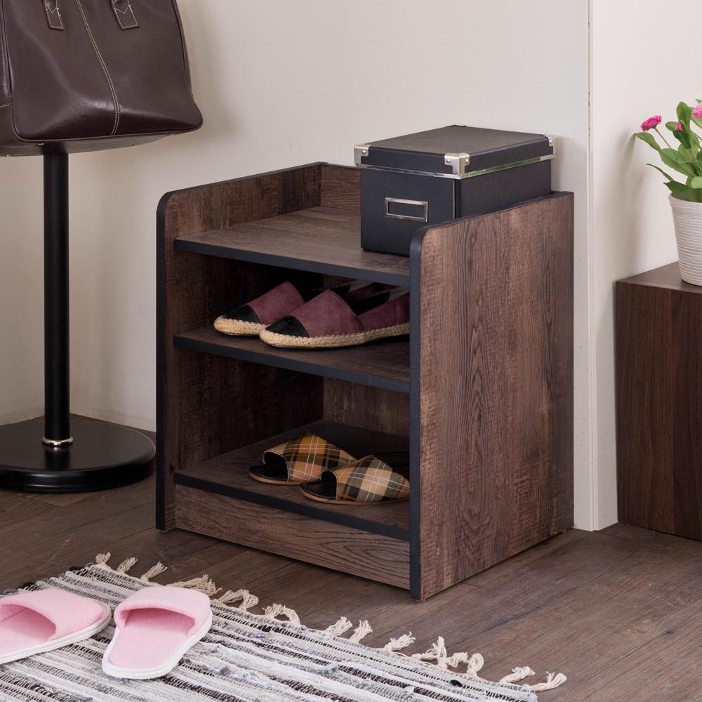 可當鞋櫃也可當收納櫃ㄇ字型擋板設計,不怕物品掉落導圓角設計不怕碰撞使用更安全