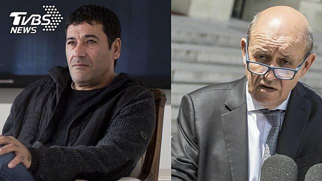 騙子希克里(左)佯裝法國現任外交部長勒德里安(右)。圖/達志影像美聯社