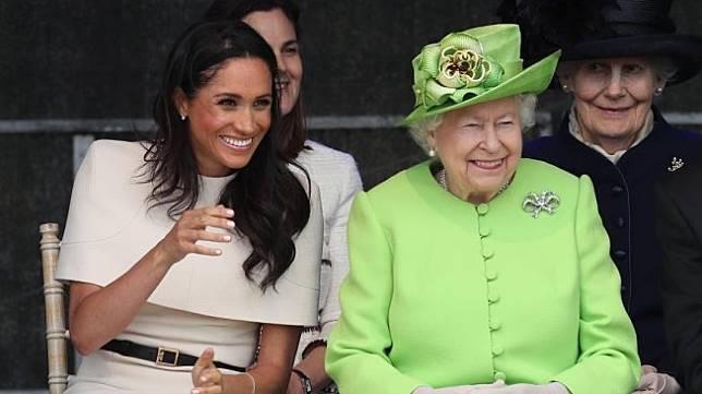Kebersamaan Ratu Elizabeth dan Meghan Markle. (Instagram/@kensingtonroyal)