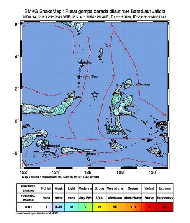 Gempa Maluku Utara, BNPB: 2 Orang Luka dan 19 Bangunan Rusak