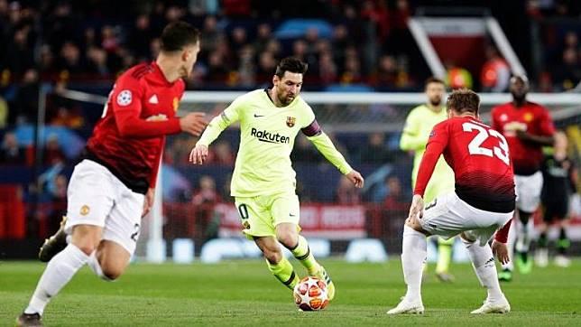 Darah Lionel Messi dan Catatan Buruk Manchester United di Liga Champions