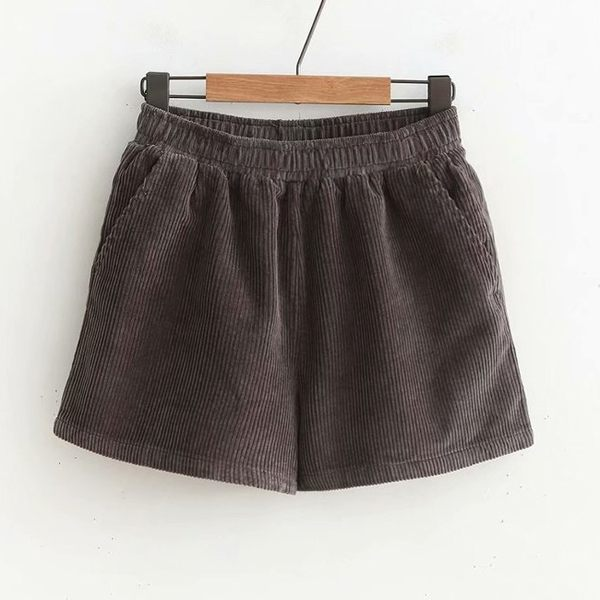 燈心絨短褲 純色長靴短褲-月兒的綺麗莊園