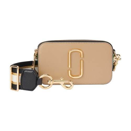 The iconic Snapshot bag by Marc Jacobs comes in a zingy colorway With a rigid leather body and textile strap, it looks like a vintage camera case.