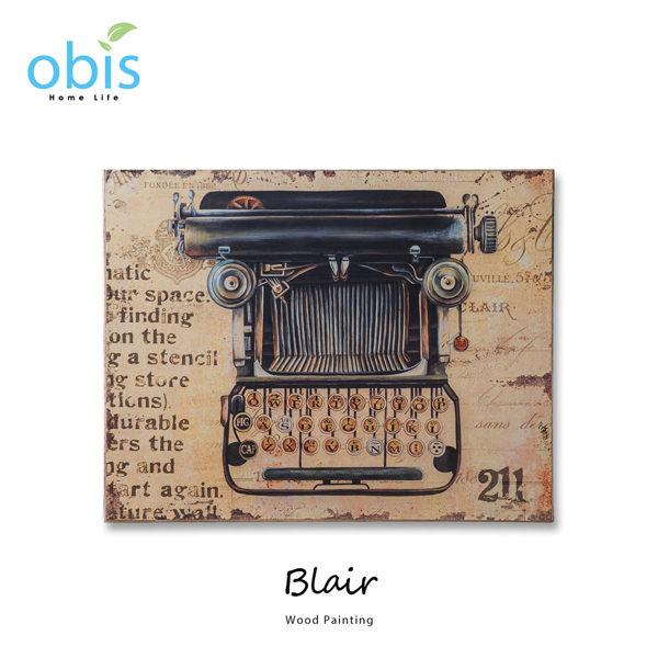 AA012-Blair黑色打字機工業風木板畫/預購(OBS/11MH324-41木板畫打字機圖案)【DD House】