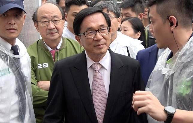 ▲民進黨33週年黨慶,同樣也是黨員的前總統陳水扁出席民