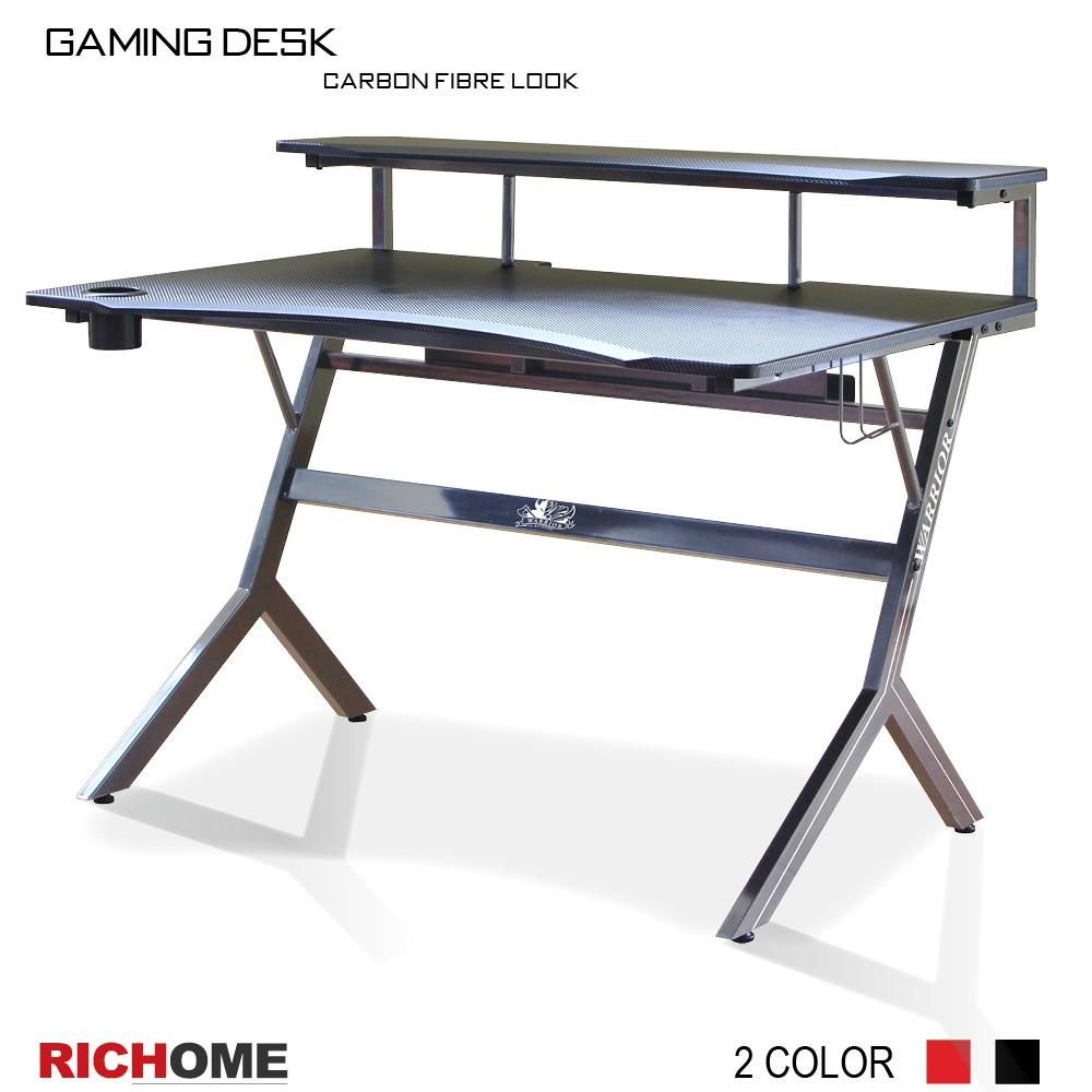 【RICHOME】WARRIOR電競高手電腦桌(單杯架款)-2色 PC308 電腦桌/電競桌/書桌/工作桌