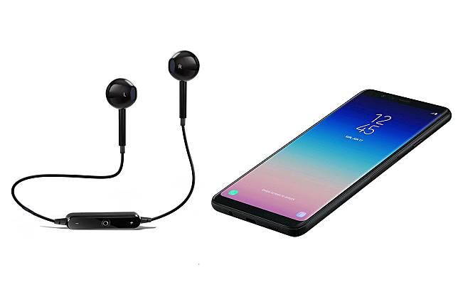 Ilustrasi headset dan smartphone