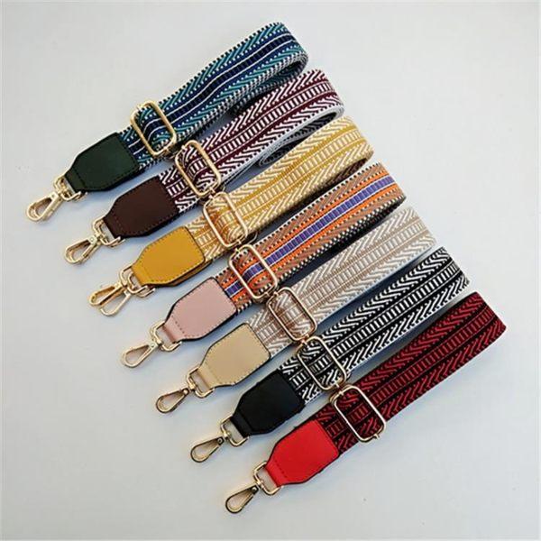 新款加寬加厚包包替換肩帶 斜跨單肩女包帶子 配件背包帶彩色條紋帶