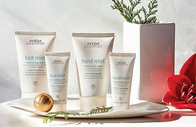 AVEDA手部及足部補濕護膚套裝:由花卉與植物提煉而成,芬芳天然,貼心守護我們的肌膚和行動力,給你雙重守護。(互聯網)
