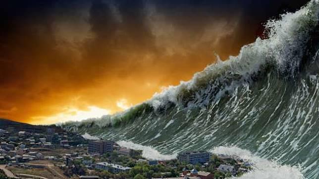 Ilustrasi tsunami (Shutterstock)