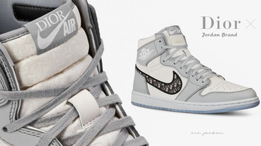 Dior x NIKE 聯名球鞋登場!「Nike Air Jordan 1 High OG Dior 」2020年4月正式販售