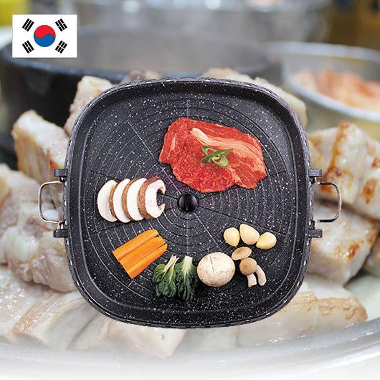 韓國製品/兩側有把手設計 韓劇與餐廳最常見烤盤 韓國知名暢銷品牌新款 容量大,烤盤、壽喜燒兩用