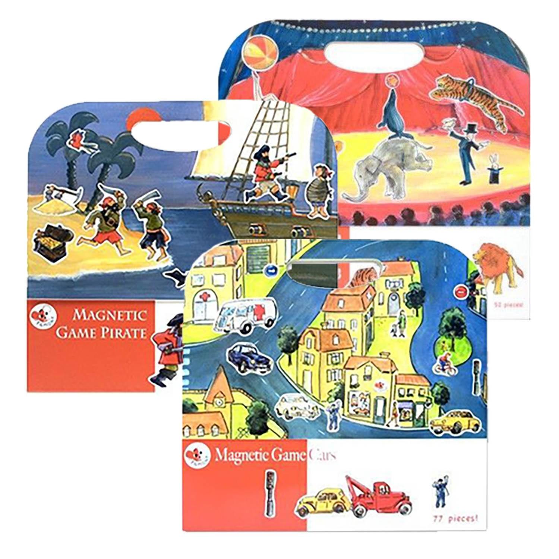 比利時艾格蒙 - 活力王子繪本組-車車方程式+海盜船冒險故事+馬戲團