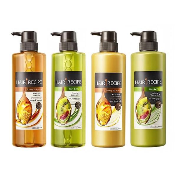 Hair Recipe 蜂蜜保濕營養/奇異果控油營養 洗髮露530ml/護髮精華素530g【小三美日】D586122
