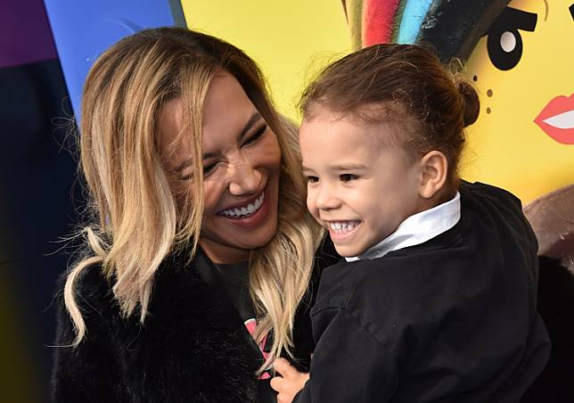 In this file photo taken on February 2, 2019 US actress Naya Rivera and son Josey Hollis Dorsey arrive for the premiere of 'The Lego Movie 2: The Second Part' at the Regency Village theater in Westwood, California.